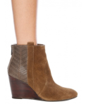 Dolce Vita DV Pansy Wedge Ankle Bootie in Taupe