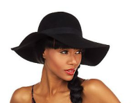 Luxe Rachel Zoe Wool Felt Floppy Hat with Stiched Brim