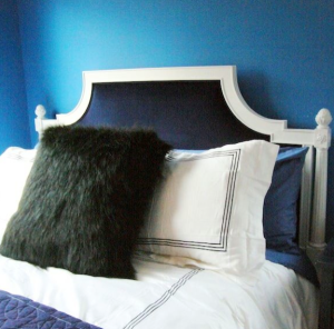 cococozy, navy walls, blue paint