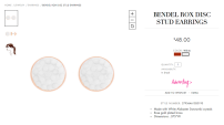 Bendel Rox Disc Stud Earrings: $48.00